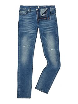 Ronnie fountain skinny fit light wash jeans