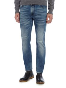 7 For All Mankind Ronnie fountain skinny fit light wash jeans