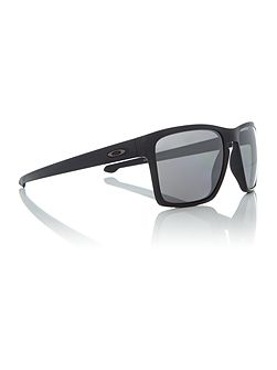 Matte black OO9341 Sliver Xl rectangle sunglasses