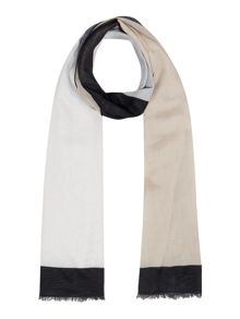 Linea Saffi block colour scarf