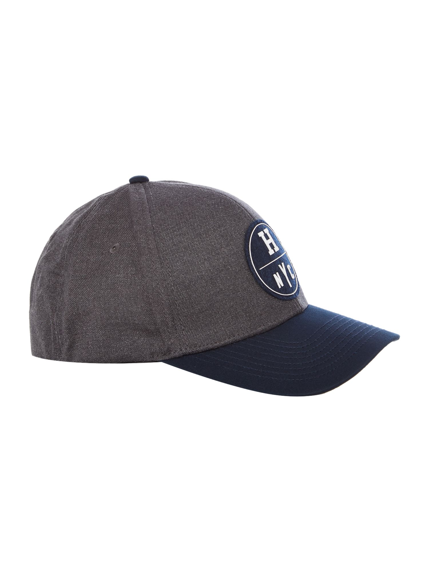 Tommy Hilfiger Eddy H Logo Brushed Twill Cap Charcoal