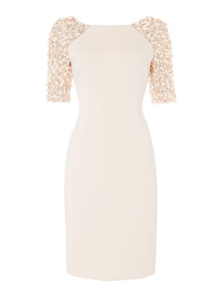 Adrianna Papell Dress embellished sleeve bodycon