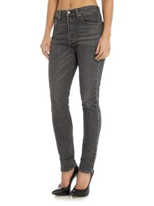 Levi's 501 Skinny Jeans in black coast