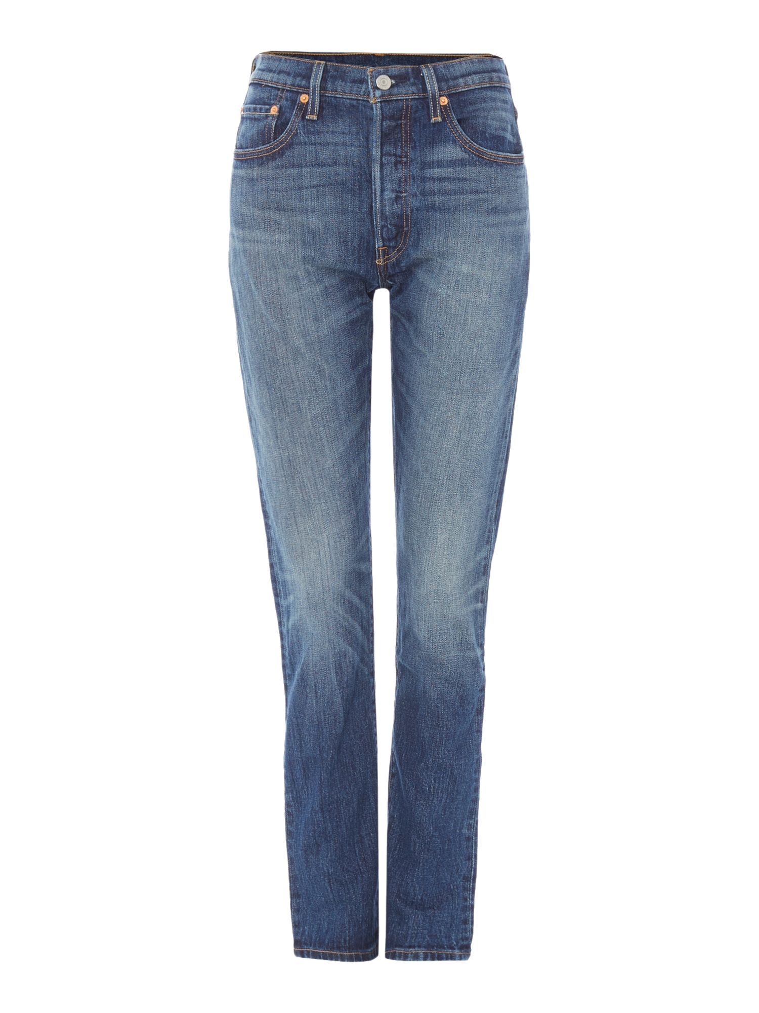 Levis 501 Exclusive Skinny In Supercharger, Denim Mid Wash