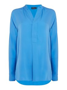 Polo Ralph Lauren Long sleeve v-neck silk shirt