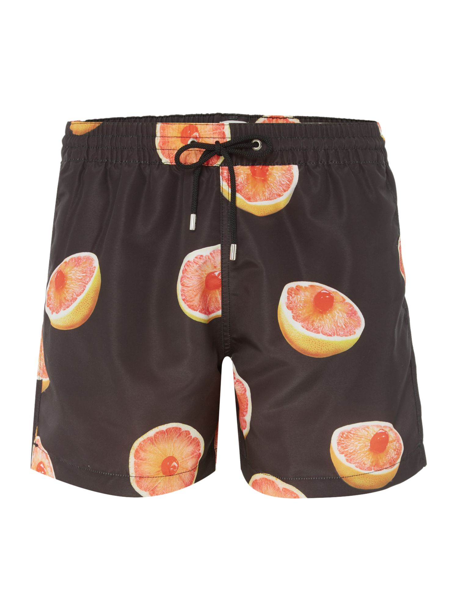 Men's Paul Smith Grapefruit Print Swim Short, Black