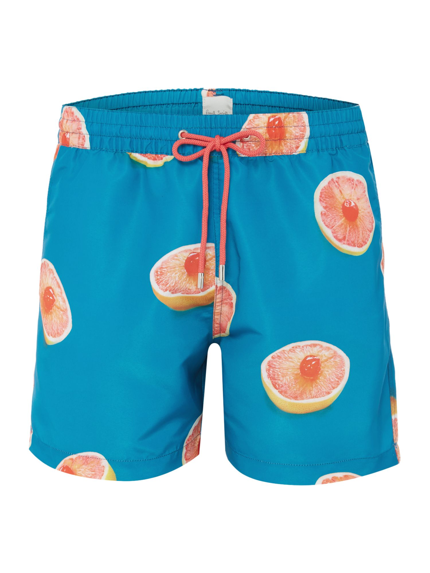 Men's Paul Smith Grapefruit Print Swim Short, Blue