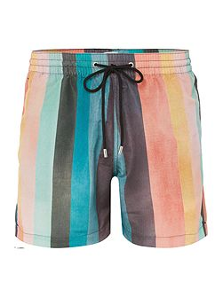 New Multi Stripe Print Swim Short