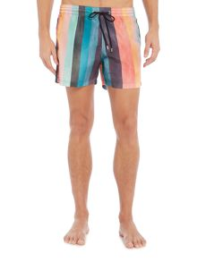 Paul Smith New Multi Stripe Print Swim Short