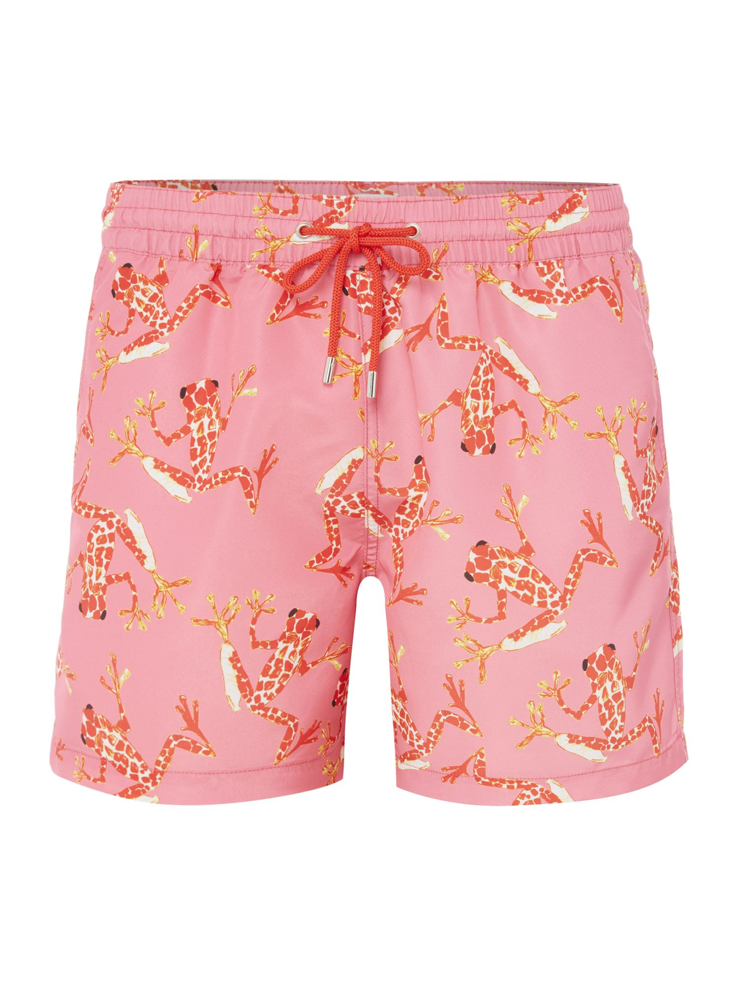 Men's Paul Smith Bright Frog Print Swim Short, Pink