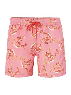 Bright Frog Print Swim Short
