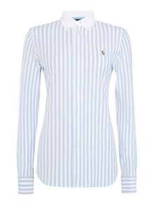 Polo Ralph Lauren Long sleeve stripe heidi knit shirt