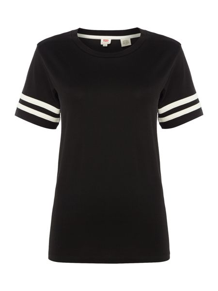 Levi's Athletic Tee Jersey Top in caviar