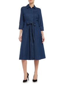 Lost Ink Longsleeve Denim Shirt Dress