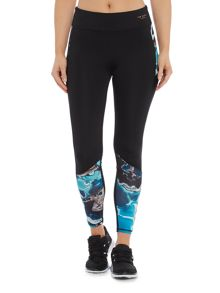 Ted Baker Blue lagoon print mesh cut out 7/8 legging