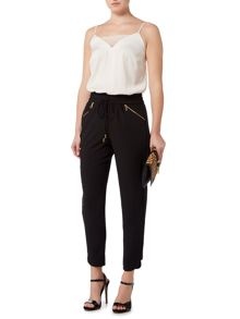 Biba Ruffle side zip detail trouser