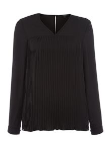 Therapy Laith Pleat Front Blouse