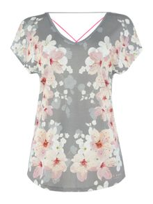 Ted Baker Blossom print multi strap top