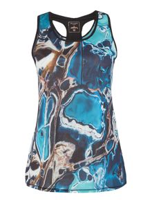 Ted Baker Blue lagoon print sports top