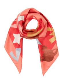 Vivienne Westwood Heart logo square silk scarf