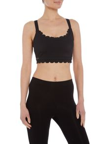 Ted Baker Scallop edge cropped sports top