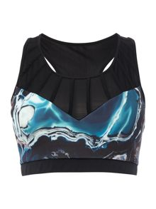 Ted Baker Blue lagoon print cropped sports top