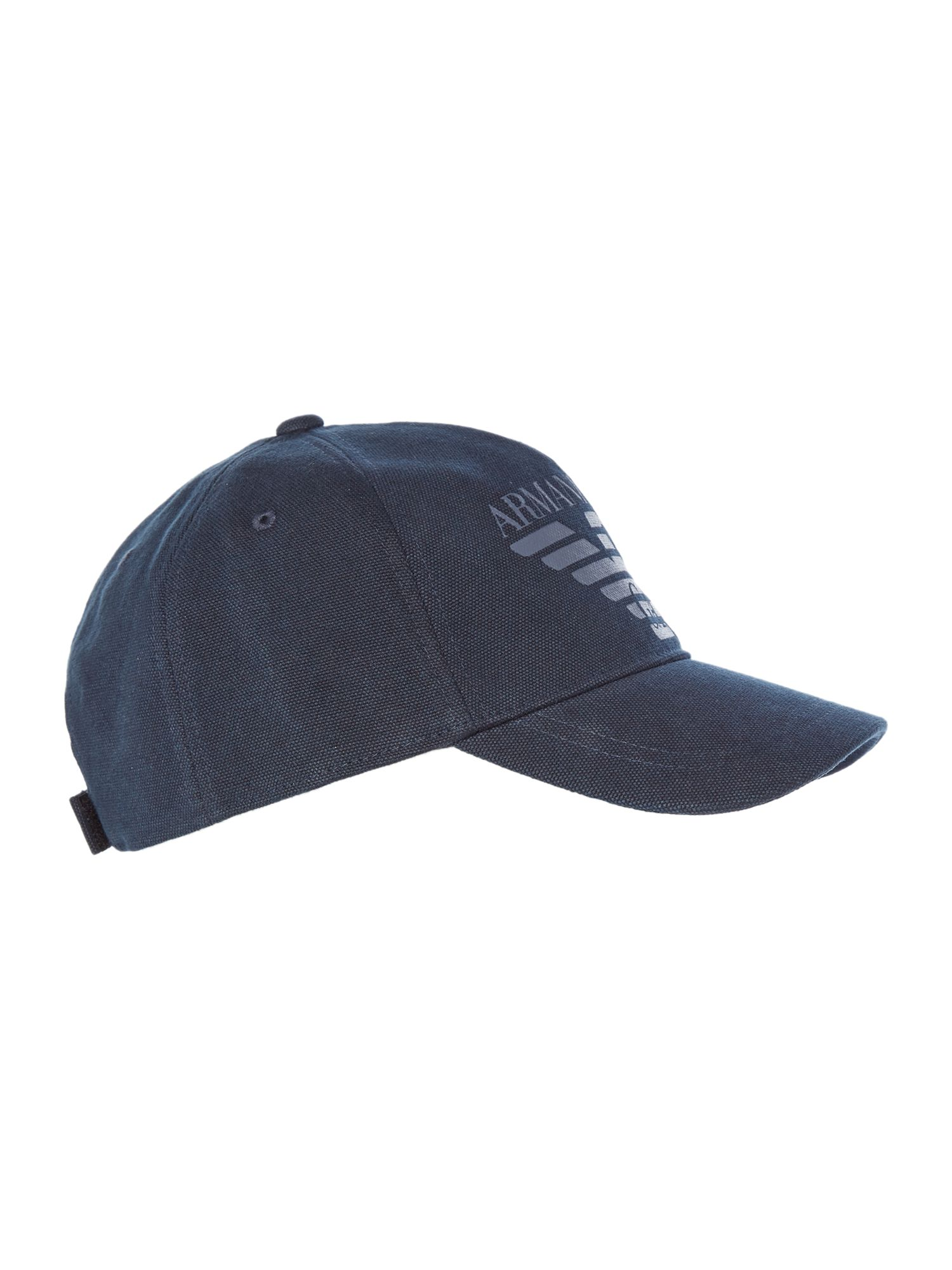 Armani Jeans Cotton Canvas Logo Cap Navy
