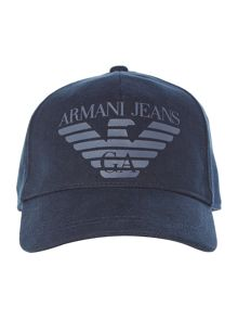 Armani Jeans Cotton Canvas Logo Cap
