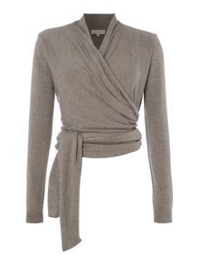 Ted Baker Soft wrap long sleeve sports top