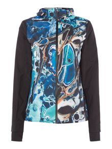 Ted Baker Blue lagoon print shower proof jacket