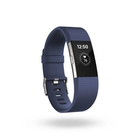 Fitbit Charge 2 Blue & Silver, Large