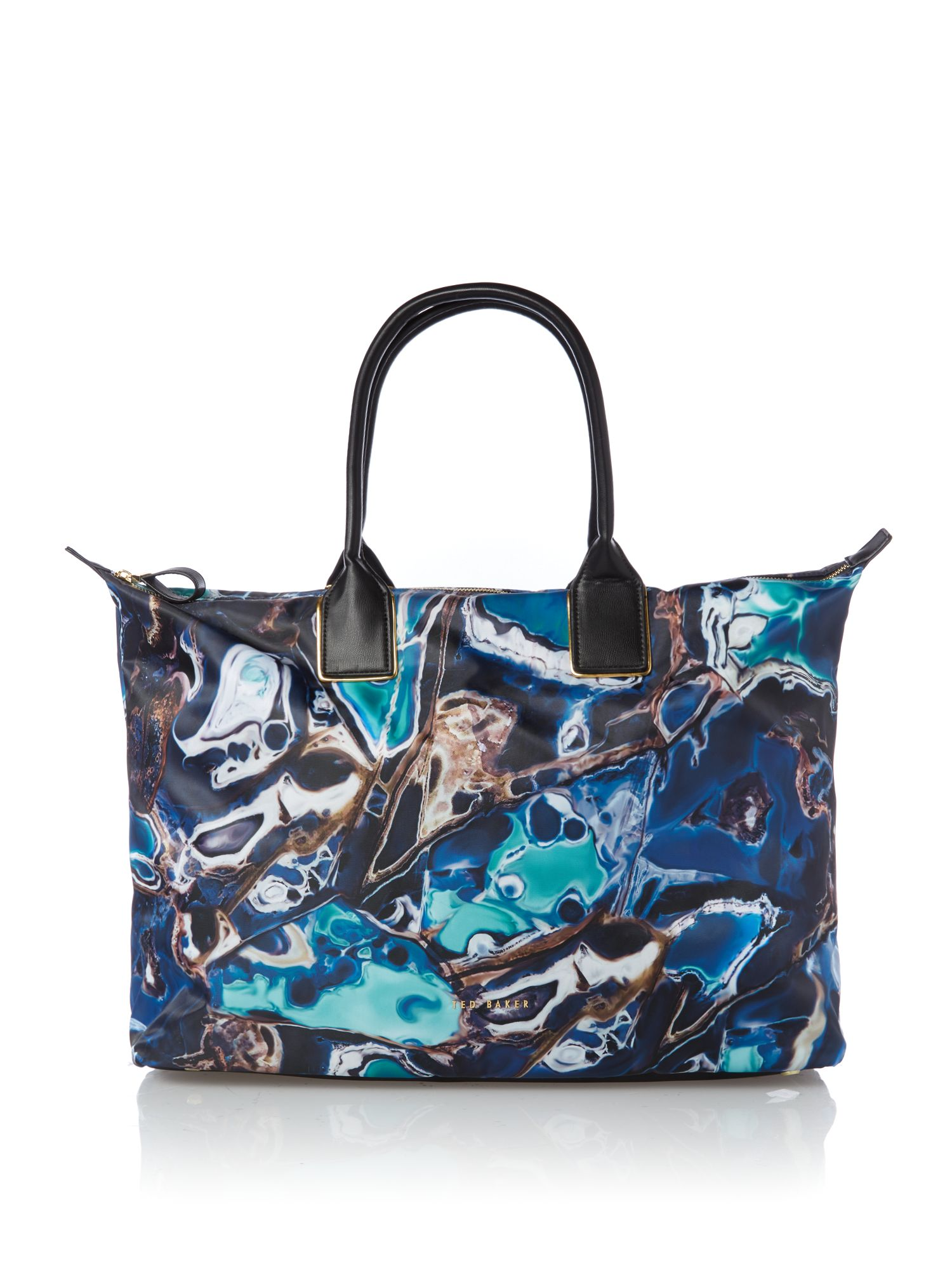 Ted Baker Large blue lagoon print tote bag Blue