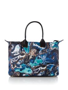 Ted Baker Large blue lagoon print tote bag
