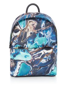 Ted Baker Blue lagoon print sports backpack