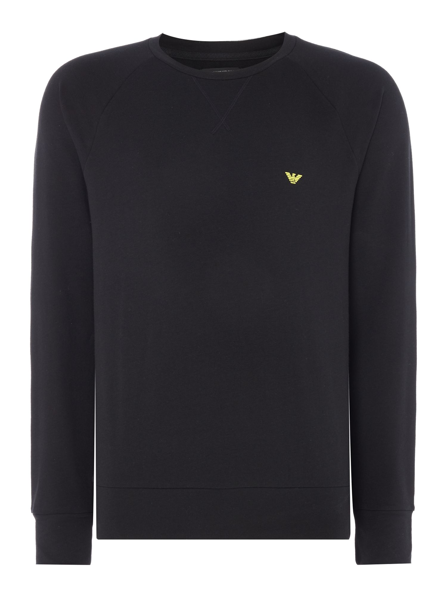 Men's Emporio Armani Large Eagle Sweatshirt, Black