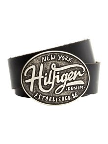 Tommy Hilfiger Large Buckle 4cm Hilfiger Belt
