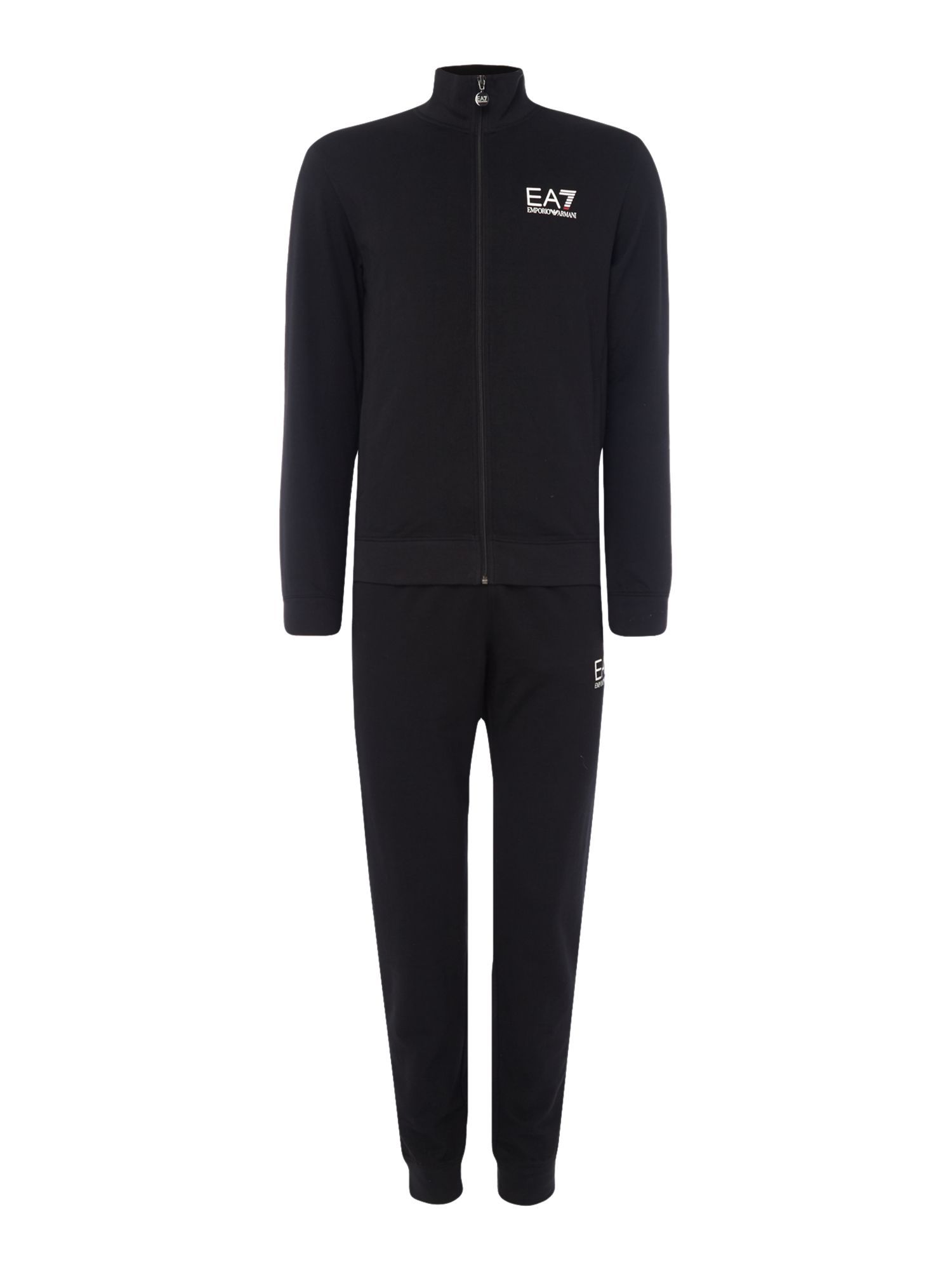 Men's EA7 Train Core ID Zip-Through Tracksuit, Black