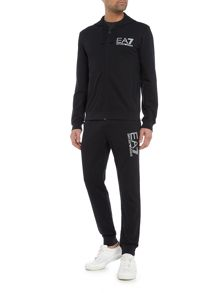 EA7 Train Visibility Zip-Through Cotton Tracksuit