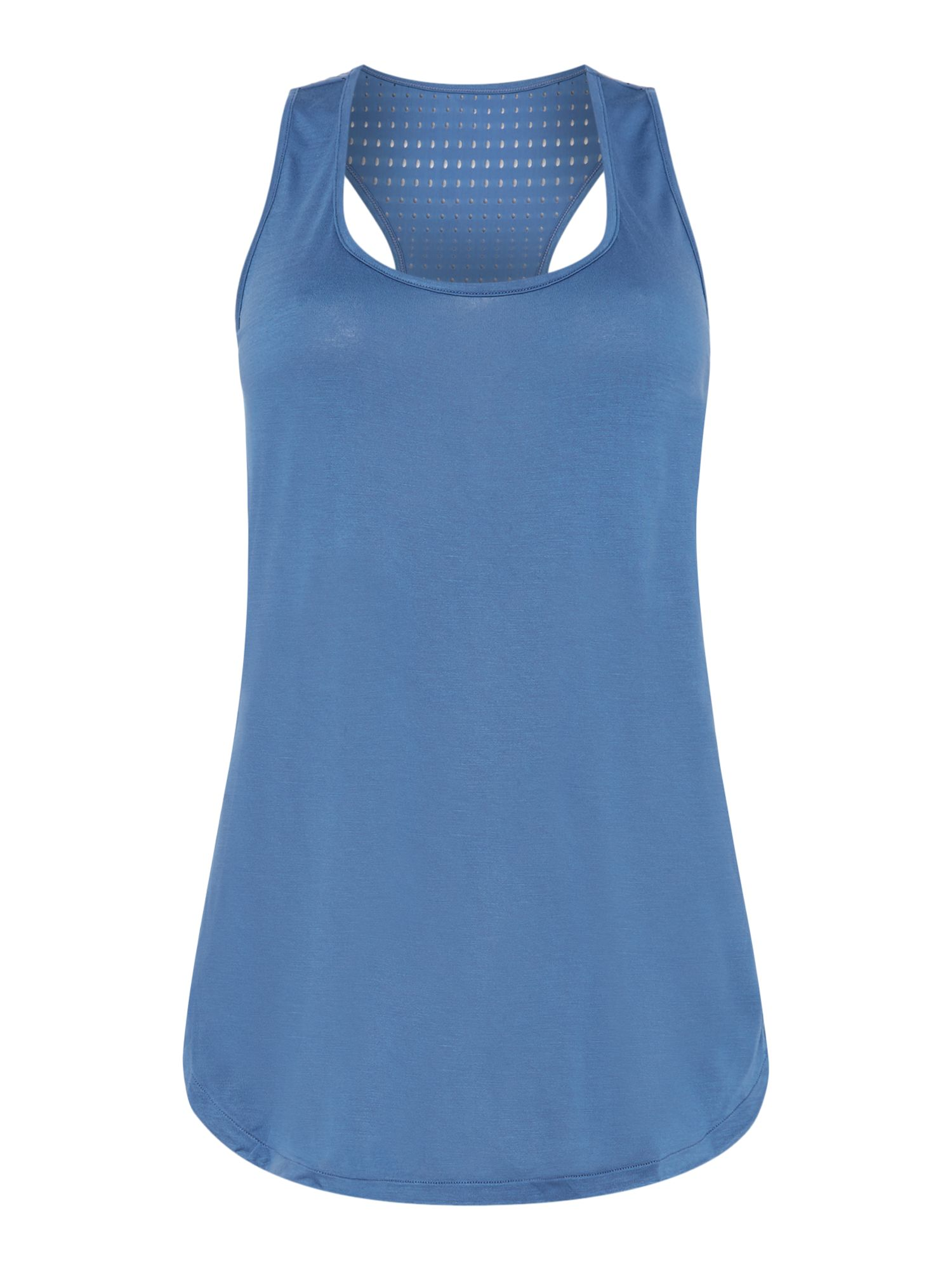 Seafolly Horizon luxe essentials air singlet sports top Blue
