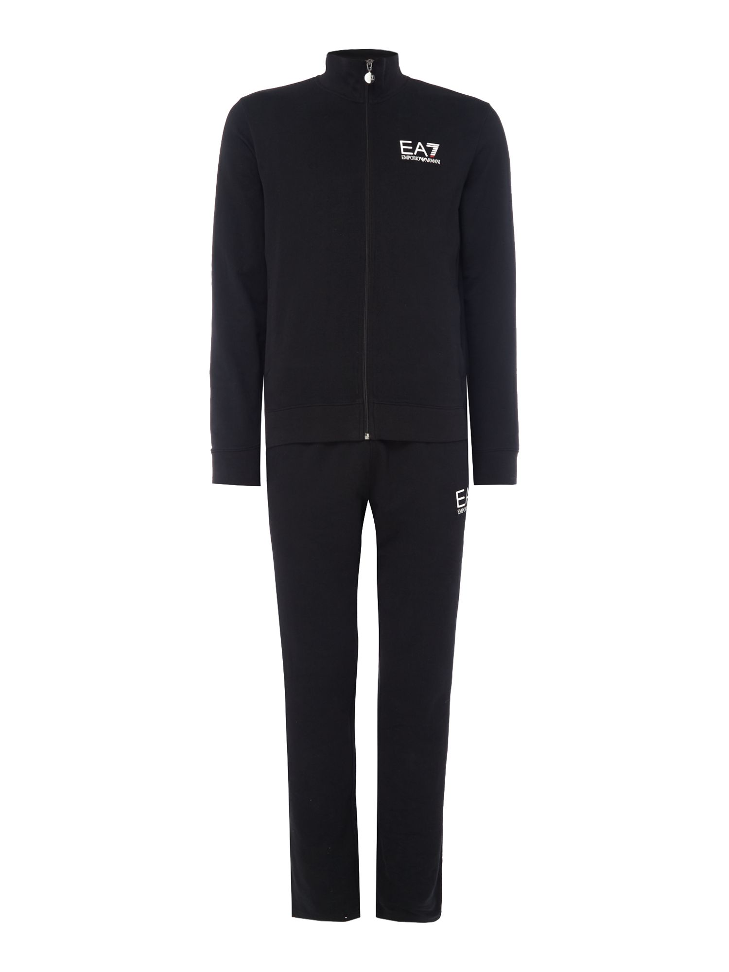Men's EA7 Train Core ID Cotton Tracksuit, Black