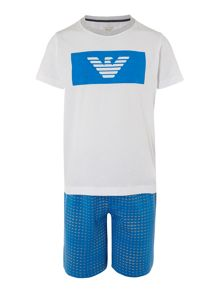Armani Junior Boys Tshirt and Short Set