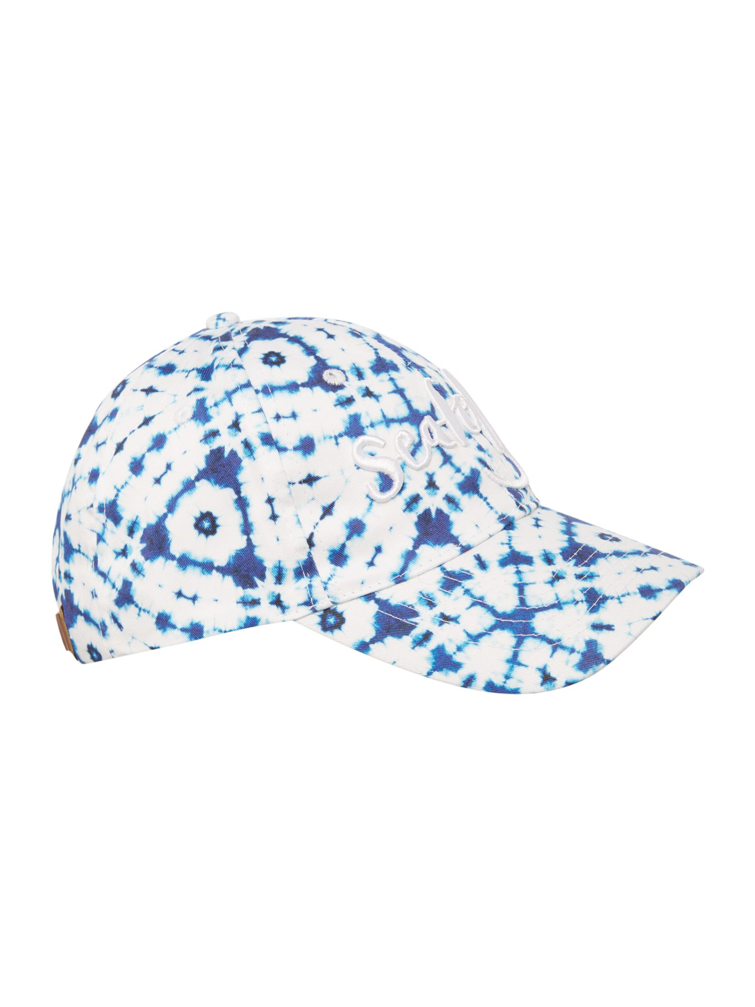 Seafolly Tie dye logo canvas sports cap Blue
