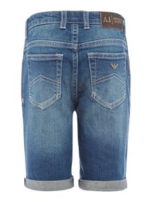 Armani Junior Boys Vintage Wash Denim Short