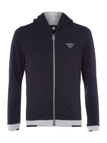 Armani Junior Boys Cotton Zip Up Hoody