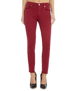 True Religion Casey Cropped Fray Jeans in Merlot