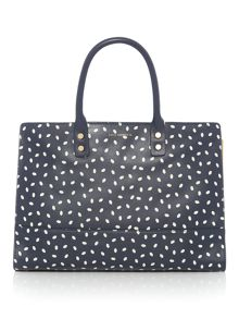 Lulu Guinness Daphne leather lip print tote bag
