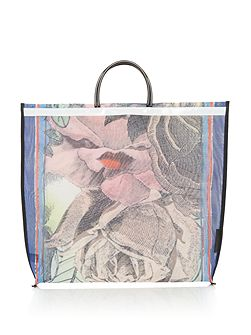 Freida Rose Lip Lady Mesh Tote Bag