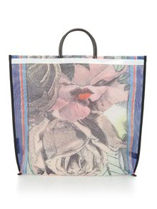 Lulu Guinness Freida Rose Lip Lady Mesh Tote Bag