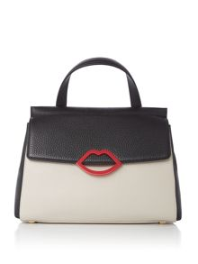 Lulu Guinness Gertie Small Grainy Leather Bag
