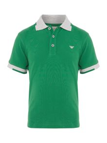 Armani Junior Boys Contrast Collar Polo Shirt